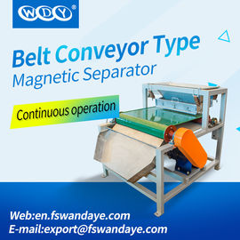 Belt Type Magnetic Roll Separators For Silica Sand / Ceramics Powder / Steatite Powder plastic particles medicine